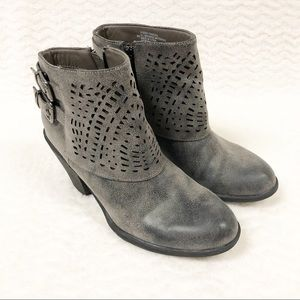 Sofft 'Panora' Laser Cut Cuff Ankle Boots Gray